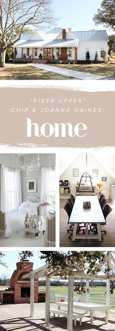 "From exterior to the interior, HGTV's ""Fixer Upper"" Chip and @joannagaines_' home is simply beautiful. The kitchen, living room, bedrooms, office and even the mudroom are all great sources of interior decorating and design inspiration."