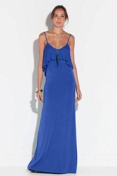 Vestido azul largo de verano