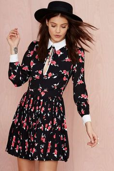 Nasty Gal Bed of Roses Collared Dress | Shop Dresses at Nasty Gal