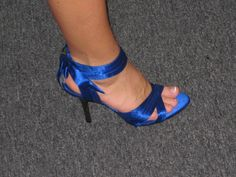Wedding By Designs Royal Blue Shoes Cinderella Style