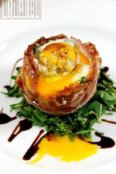 Quando la creatività fa la differenza! La filosofia di Contemporaneo Food perfettamente applicata alle semplicissime uova al bacon che tutti conosciamo
