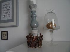 Z nazbieraných drievok vznikol svietnik