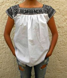 Handmade Embroidered Mexican Blouse Shirt by IndigenousCrafts, $30.00