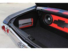 chevelle custom car stereo trunk install jl audio subs