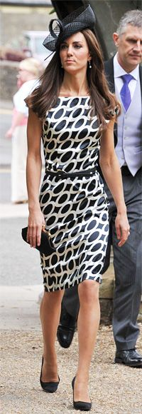 June 11, 2011  Catherine Middleton and her sister Pippa headed to Berkshire for the wedding of their friend, jockey Sam Waley-Cohen. Kate wore a dress she was last seen in at Boujis nightclub and L.K. Bennett heels