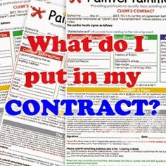 Paintertainment: Face Painting Client Contracts...What Do I Write?