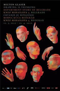 Milton Glaser: Nine Posters: Design Observer Graphic Design Books, Graphic Design Illustration, Graphic Design Inspiration, Illustration Art, Book Cover Design, Book Design, Milton Glaser, Design Observer, Collages