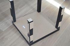 IKEA Hack lacquer table with Plexiglas – IKEA Hack lacquer table with Plexiglas - Make Up Desk Ikea Lack Hack, Ikea Hack Storage, Ikea Lack Coffee Table, Lack Table, Home Decor Hacks, Diy Home Decor Projects, Glass Furniture, Diy Furniture, Best Ikea