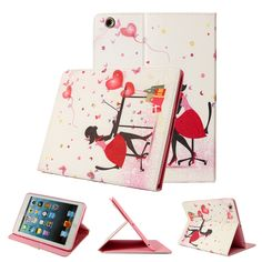 Cute Magnetic PU Leather Stand Smart Case Back Cover For iPad Air 2  Worldwide delivery. Original best quality product for 70% of it's real price. Hurry up, buying it is extra profitable, because we have good production sources. 1 day products dispatch from warehouse. Fast & reliable...