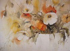 "Ingrid Buchthal Aquarell 64 x 49 cm ""Sommer III"" (960×701)"