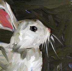 Bunny Rabbit no. 2 print by Moulton 6 x 6  inches prattcreekart