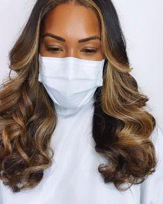 Dyed Natural Hair, Natural Hair Highlights, Natural Braids, Curly Hair Styles, Natural Hair Styles, Hair Laid, Permanent Hair Color, Hair Color For Black Hair, Gorgeous Hair