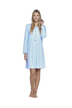 camisón en color azul ideal premamás moda íntima belty paramí colección otoño invierno