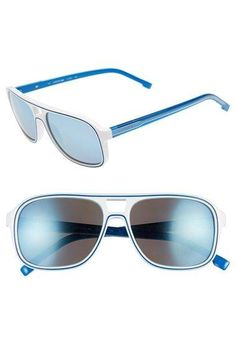 Lacoste+57mm+Aviator Lacoste+57mm+Aviator+Sunglasses+available+at+#Nordstrom