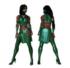MKX: Jade Tournament by kennadyxkohai on DeviantArt Mortal Kombat Memes, Jade Mortal Kombat, The Last Avatar, Mileena, Cool Costumes, Costume Ideas, Marvel Vs, Video Game Art, Overwatch