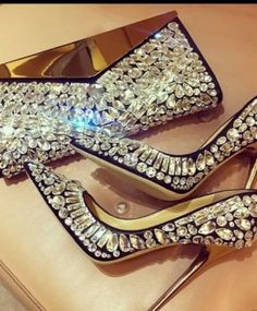 Jimmy Choo - amazing crystal high heel pumps and bag (shoes)