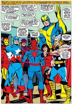 Spider-Man thinks the Avengers come on a bit strong (from ASM Annual #3)