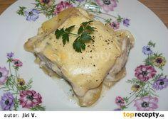 Filet z tresky s vinnou omáčkou Eggs, Meat, Chicken, Breakfast, Morning Coffee, Egg, Egg As Food, Cubs