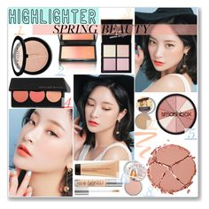 No 361:Highlighter (Top Set) by lovepastel on Polyvore featuring beauté, Charlotte Tilbury, Pop Beauty, Smashbox, Kevyn Aucoin, Sephora Collection, Burberry and highlighter