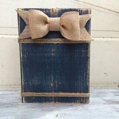 Navy Distressed Wood Block Frame 4 x 6 or 5 x by SouthernFarmhouse