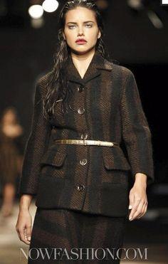 Adriana For Prada Prada, Coat, Jackets, Fashion, Down Jackets, Moda, Fashion Styles, Jacket, Fashion Illustrations