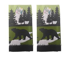 Set of 2 Spoontiques Brand 100% Cotton Rustic Bear Hand Towel -- Check out this great image  : home diy kitchen