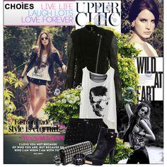 jacket: http://www.choies.com/product/black-pu-jacket-1 http://www.choies.com/product/studded-pu-biker-jacket shorts:http://www.choies.com/product/studded-velve...