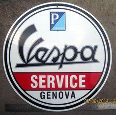 PIAGGIO VESPA SERVICE GENOVA wall hanging GS VBB SS VNB 90 160 180 SUPER SPORT