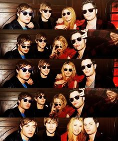 Ed Westwick, Chace Crawford, Blake Lively, and Penn Badgley.......