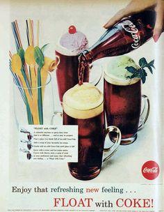 Coke floats, 1961 - Yum!