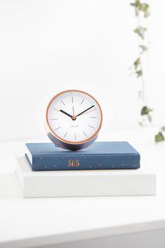 Add this stylish Swedish Copper Karlsson Clock to your desk