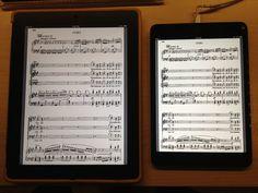 iPad and iPad Mini side-by-side showing the same sheet music. Ipads, Ipad Mini, Sheet Music, Twitter, Greek Chorus, Music Score, Music Charts, Music Sheets