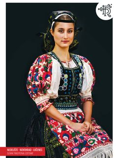 Nedelište, Novohrad, Slovakia Traditional Fashion, Traditional Dresses, Folk Clothing, Tribal Dress, Wedding Costumes, Folk Embroidery, Folk Costume, Festival Wear, Europe