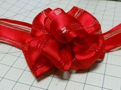 I think I can actually do this! Easy Bow Using Wire-Edge Ribbon Instructional - YouTube