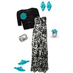 Use different colored shrugs and cardi with this dress for more looks