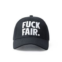 94d3d6bf84a55 HIGH QUALITY QUOTE FUCK FAIR BASEBALL CAP IN BLACK from soldrelax
