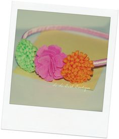 Bright Orange Lime Green & Pink Flowers on top by lilibirdbowtique, $11.00