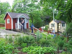 Allotment huts in the open-air museum Skansen in Stockholm