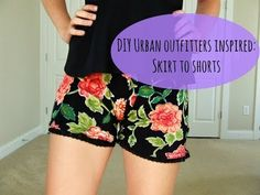 Re-purpose Your Skirt Into Stylish DIY Summer Shorts