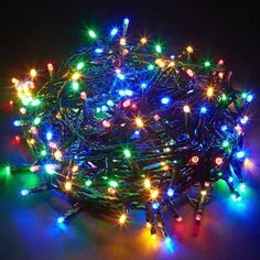 LED Chaser String Fairy Lights Mains Powered Xmas Wedding & Party Decoration New Christmas Lamp, Led Christmas Lights, Decorating With Christmas Lights, Outdoor Christmas, Christmas Images, Christmas Wedding, Tree Decorations, Christmas Decorations, Holiday Decor