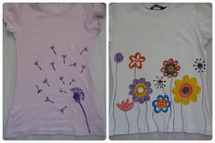 Two diy t shirts ... for brighter day :)