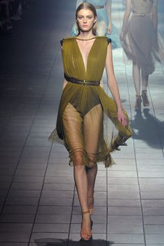 spring 2012 ready-to-wear  Lanvin.  I just bought silk georgette in this exact color.