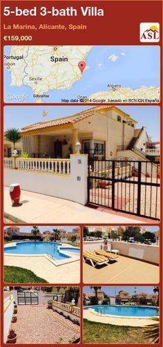5-bed 3-bath Villa in La Marina, Alicante, Spain ►€159,000 #PropertyForSaleInSpain