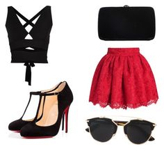 """""""6 6"""" by sa14muna on Polyvore featuring Sergio Rossi, Proenza Schouler, Christian Dior and Christian Louboutin"""