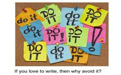 As much as we all love to write, sometimes it's impossible to get us to write. It doesn't even make sense; if we love it so much, why do we avoid it? http://www.writeforhollywood.com/Breaking-Procrastination/