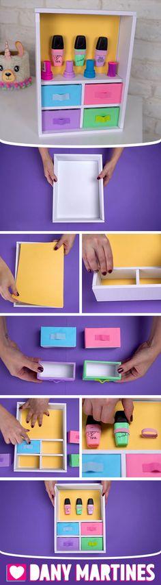 Diy And Crafts Sewing, Easy Paper Crafts, Paper Crafts Origami, Cardboard Crafts, Diy Paper, Fun Crafts, Panda Craft, Diy Storage Boxes, Kawaii Diy