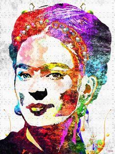 mixed media frida kahlo painting - Google Search