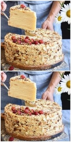 The most delicious cottage cheese Napoleon is simply delicious.- Самый вкусный творожный Наполеон – просто б… The most delicious cottage cheese … - Napoleon Dessert, Napoleon Cake, Easy Cake Recipes, Baking Recipes, Dessert Recipes, Sweet Pastries, French Pastries, Bakery Cakes, Food Cakes
