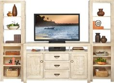 Shop for a South Creek White 3 Pc Wall Unit at Rooms To Go. Find Wall Units that will look great in your home and complement the rest of your furniture. #iSofa #roomstogo