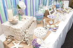 How to throw a beach themed wedding shower details on diy decor easy and fun beach themed bridal shower ideas everafterguide junglespirit Choice Image